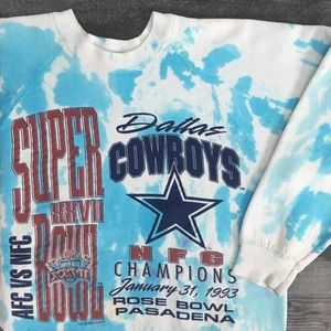 1993 Dallas Cowboys Tie Dye Crewneck